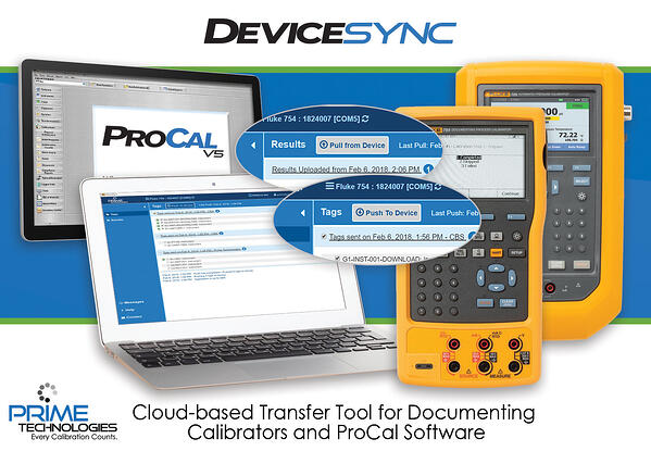 DeviceSync Documenting Calibrator Tool for Calibration Software