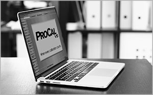 ProCalV5 Software On Laptop